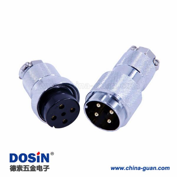 GX30公母头对接航空头4芯直式电缆线接头2套