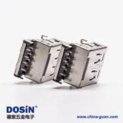 usb3.0母头沉板弯式加高两脚插板接PCB板