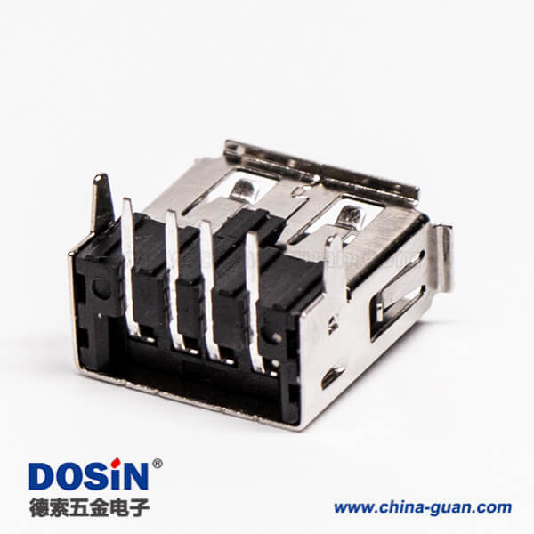 USB接口直角母头弯式DIP插板接PCB板