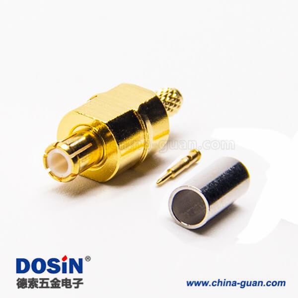 mcx射频连接器公头直式压接接线
