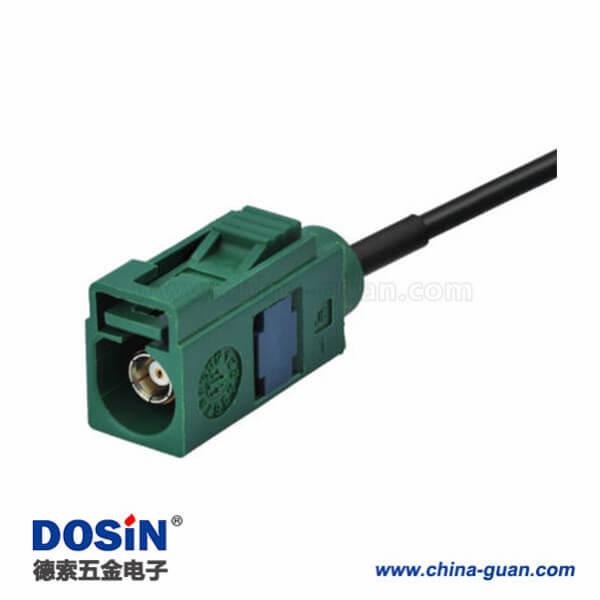 汽车收音机天线延长线直式Fakra E型母转母连接器接线20英尺