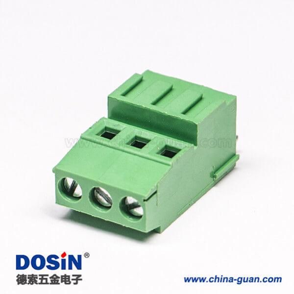 PCB螺钉式接线端子180度直式穿孔式接PCB板