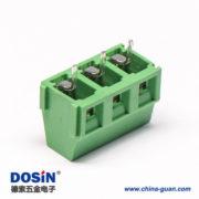 螺钉式PCB接线端子3芯绿色直式接PCB板绿色连接器