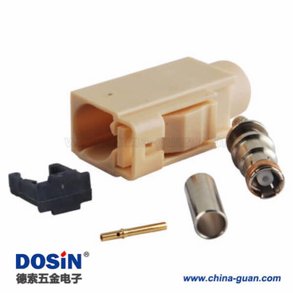 Fakra汽车连接器 颜色编码I型压接焊接接线RG58 LMR-195 RG400 RG142