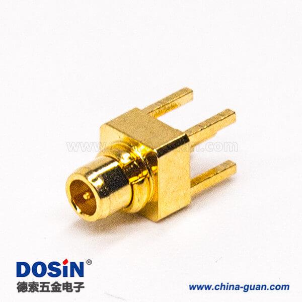 mmcx直式180度公头连接器插板式接PCB板