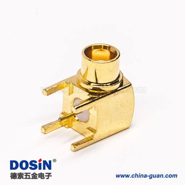 mcx同轴连接器90度弯式母头插板式接PCB板镀金