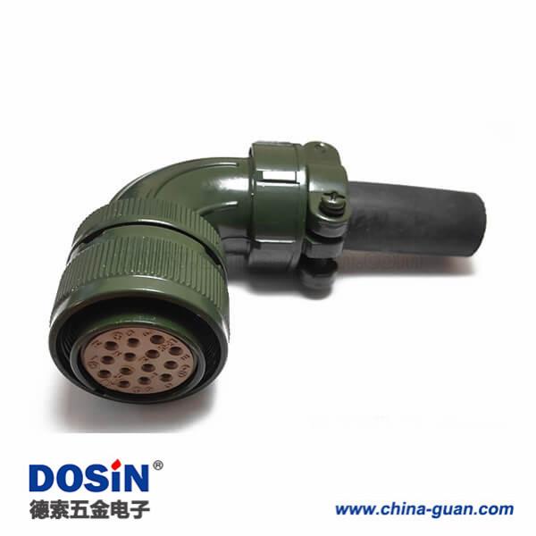 MS3108A20-27S航空插14芯弯头电机插头