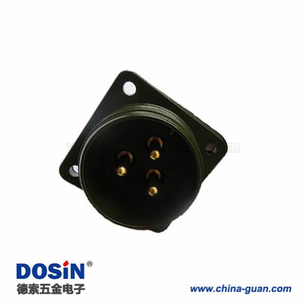 替代日本DDK航空插座MS3102A22-2P连接器3芯