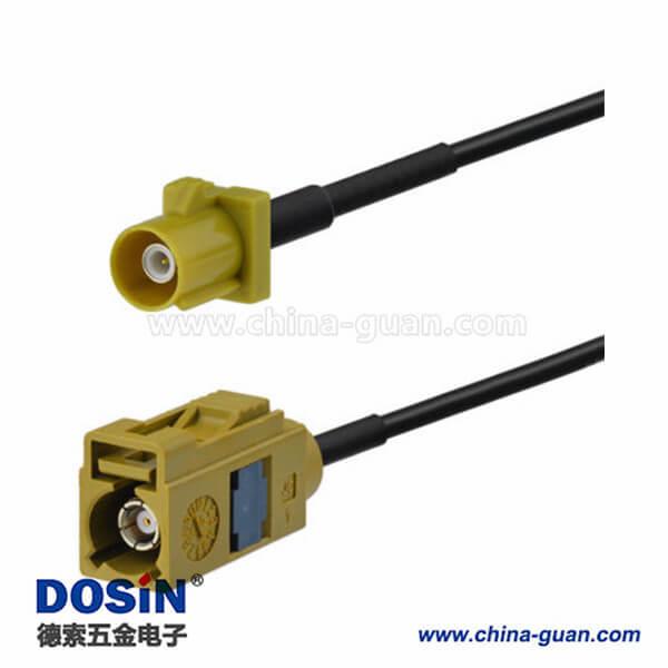 Fakra产品直式连接器Fakra K母对天线接线5m用于汽车Sirius XM