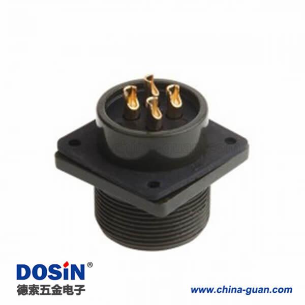 MS3102A20-4P 4芯动力4孔法兰插座