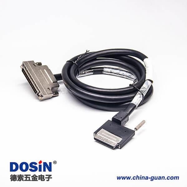 SCSI 68P 接口VHDCI型注塑公转HPCN组装式公头连接线2米