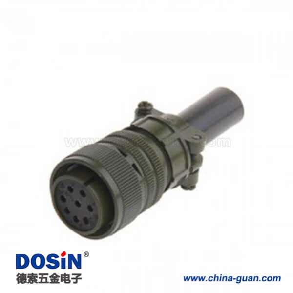直式8芯焊接航空插头MS3106A20-7S