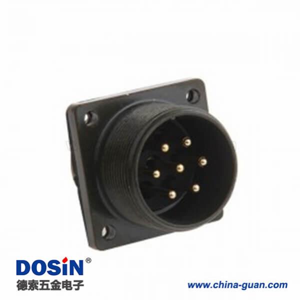 MS3102A20-15P方形法兰7芯接线航插