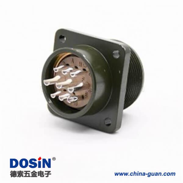 9芯航空插头军标插座MS3102A20-18P法兰安装插座