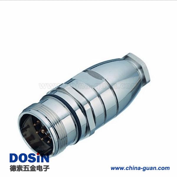 M23编码器插头16组装焊线16芯公插头机器人专业