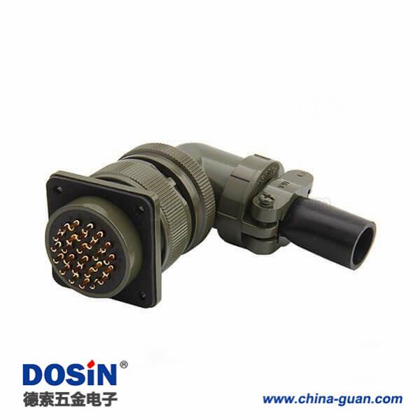 美军标航空插头MS3108A28-11S 22芯弯插头