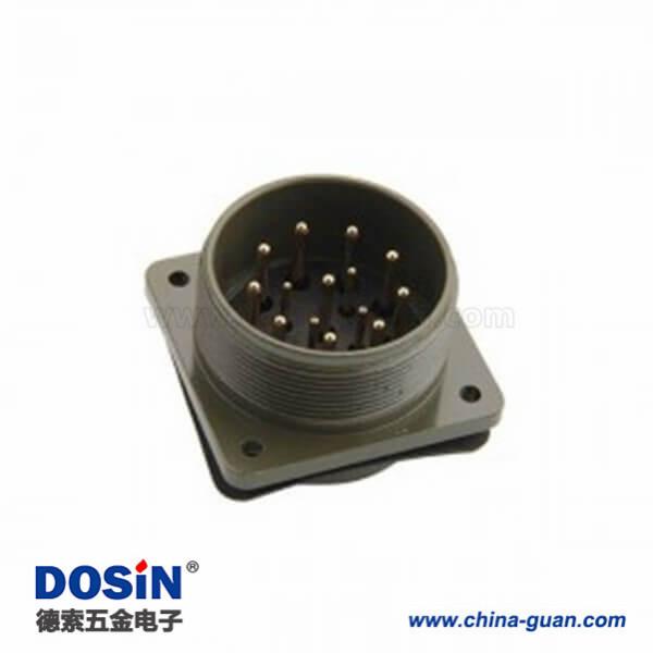 14P连接器MS3102A28-20P方形插座航空插头