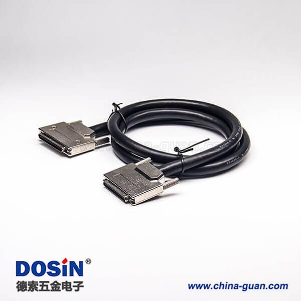 SCSI68针接口VHDCI 公转公VHDCI 68芯锌合金外壳组装线2米