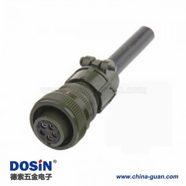 伺服机线材MS5015军工航插线材MS3108A14S-5S 5芯连接器