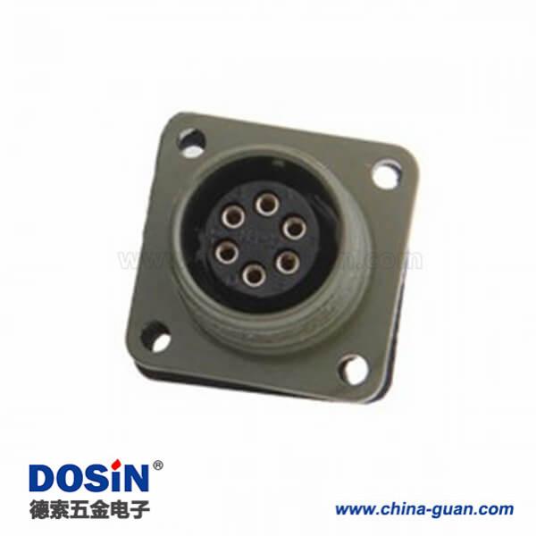 5015系列6芯MS3102A14S-6S接线航空插座