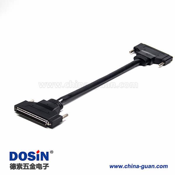 SCSI100 PHPDB公转公直式螺丝锁连接线1米