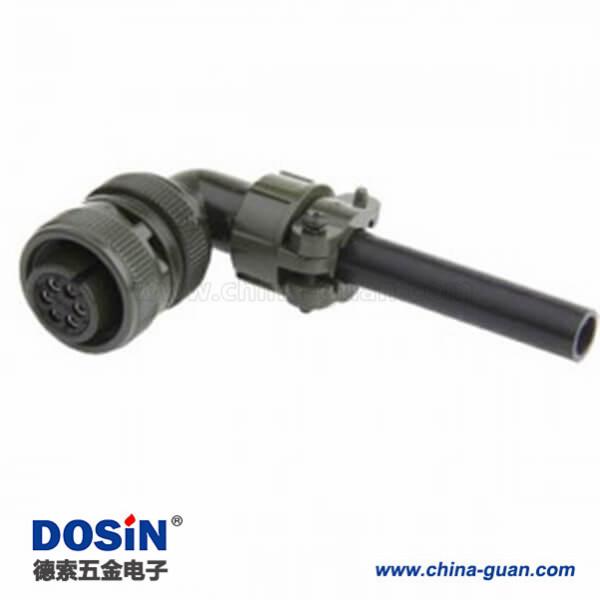 弯式6芯焊接航空插头MS3108A14S-6S