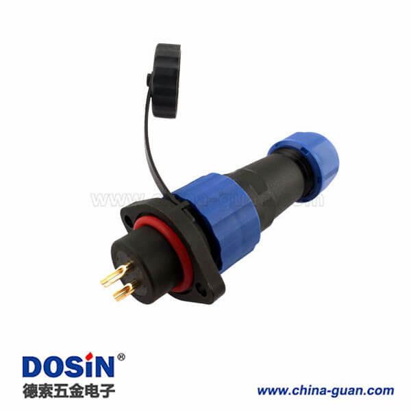 SP17防水连接器 防水等级IP68 2芯