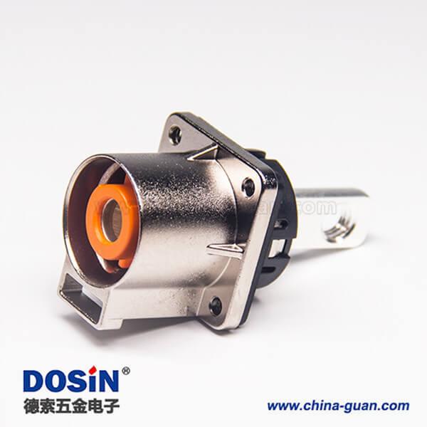 高压连接器插座电流200A金属单芯直式互锁连接器