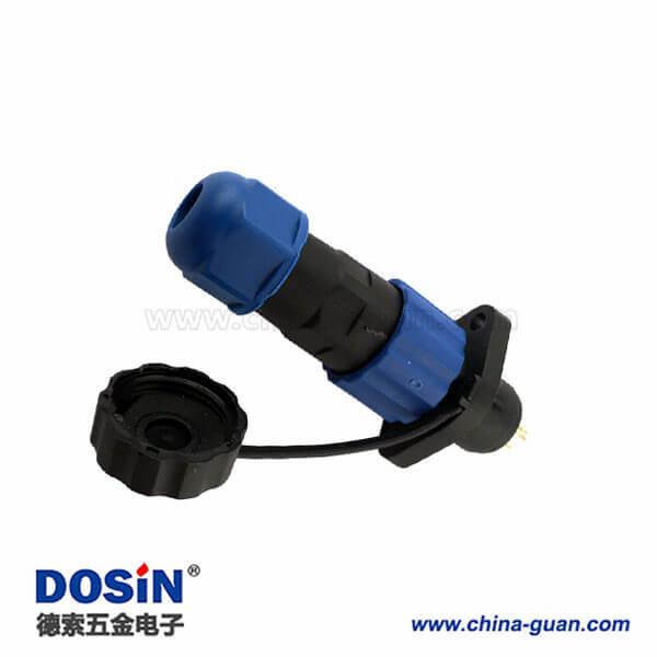 防水小型连接器替代威浦SP13圆形航空插头7芯