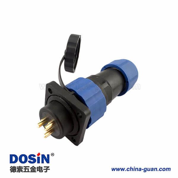 LED户外连接器 SP17 6芯塑料防水航空插头插座
