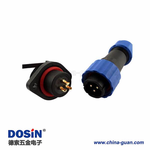 SP17防水航空插头3芯连接器