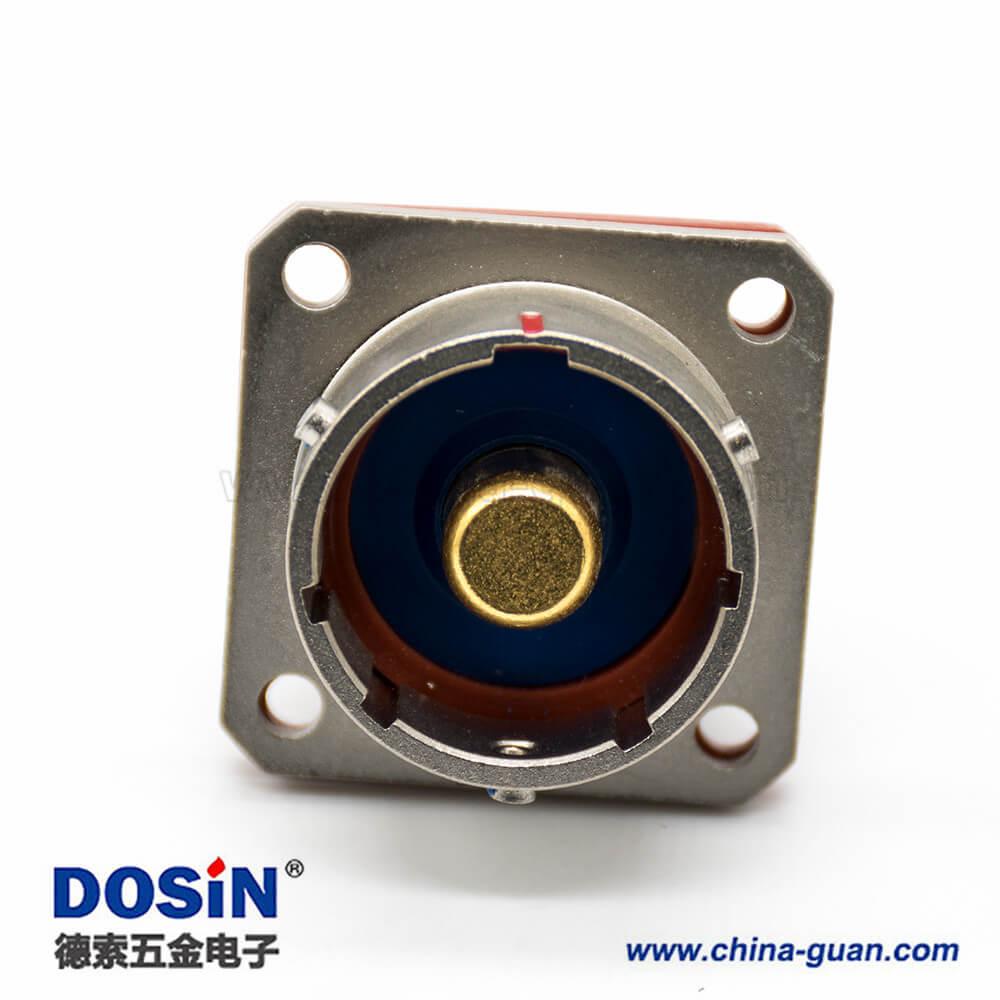 Y50DX航空插头1芯直式母插头公插座接线面板安装焊接式公母对接一套卡口连接