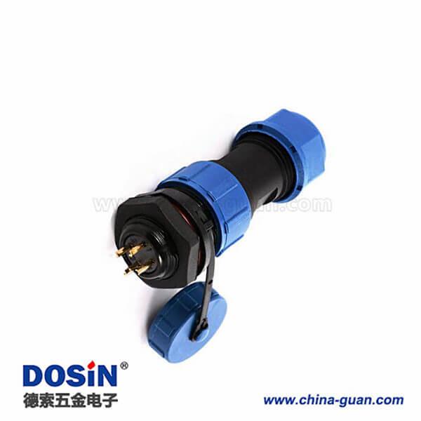 防水航空插头连接器 SP17 4芯电线线缆公母快速对接