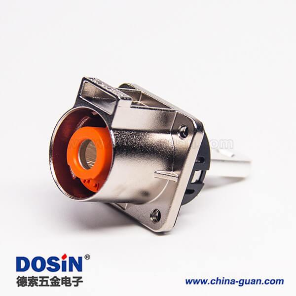 耐高压连接器金属单芯互锁直式插座电流200A