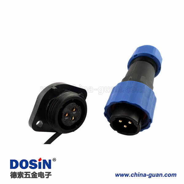 SP17航空插头防水5芯航空插座5芯