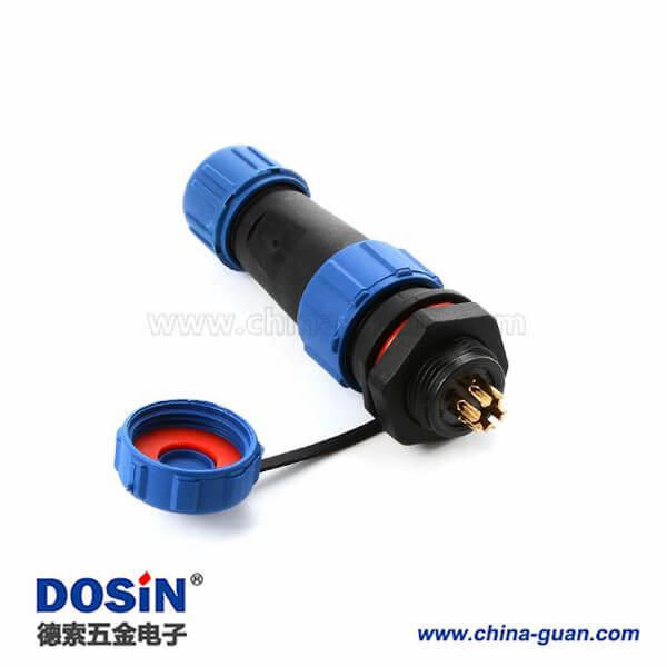SP1310 防水航空插头插座 SP13-6 6芯 5A 防水连接器