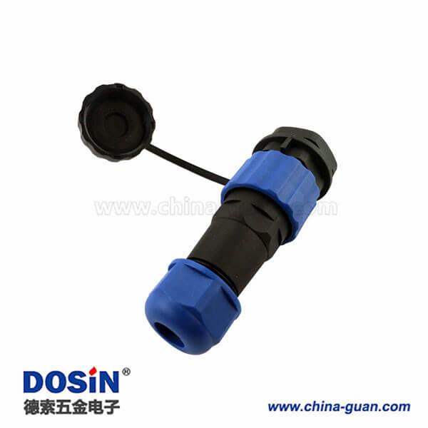 SP17圆形航空插头插座 6芯防水连接器 SP1710