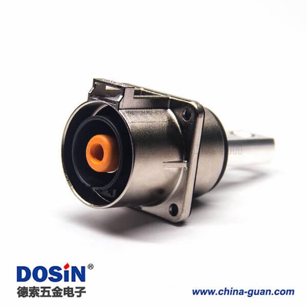 高压插座直式单芯8mm金属电流200A互锁连接器