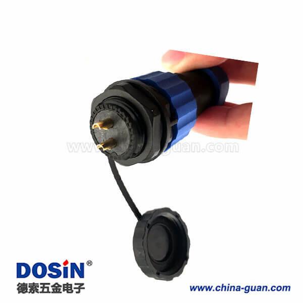 IP68防水航空连接器SP21 2芯插头插座