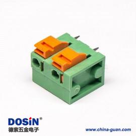 免螺丝接线端子穿孔弹簧式4芯绿色接线连接器