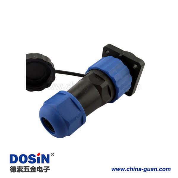 SP17路灯防水接头 9芯塑料电缆连接器