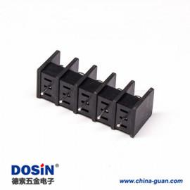 栅栏式接线端子排5芯直式穿孔式黑色接PCB板安装