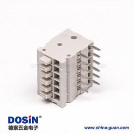 灰色端子台弯式弹簧式插PCB板12芯端子接线连接器