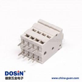 灰色接线端子双排8芯直式穿孔焊接弹簧式接线端子