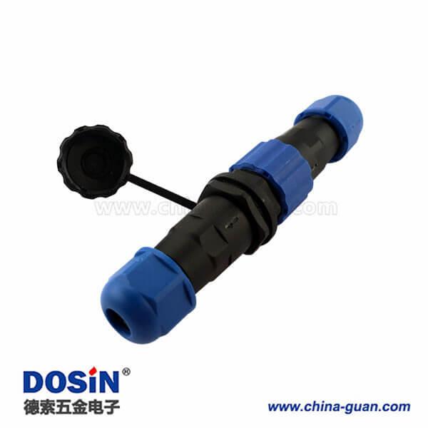 对接防水连接器JH17/SP17 4芯航空插头