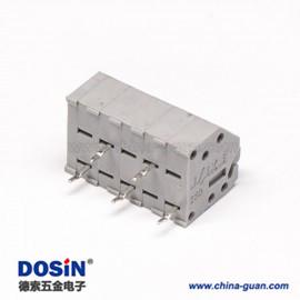 灰色端子5孔5针弹簧式PCB板穿孔式接线端子连接器