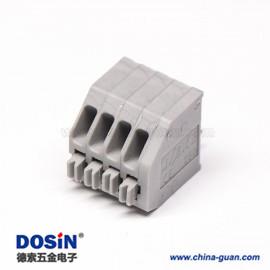 端子接线4孔4芯灰色接线穿孔直式弹簧式接线端子