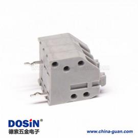 接线端子接线2孔斜对角2芯2.5mm灰色弹簧式接线端子180度