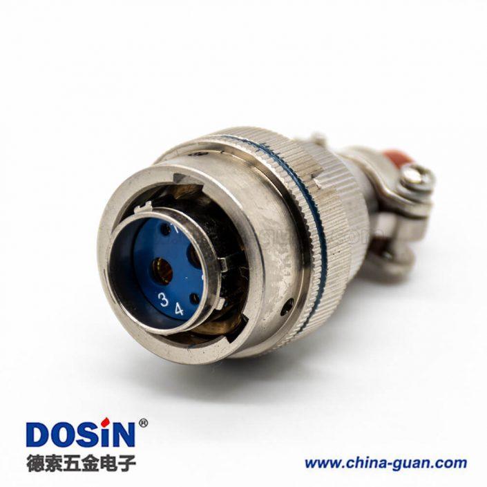 圆形插头XC系列4芯母插头卡口连接接线焊接电连接器