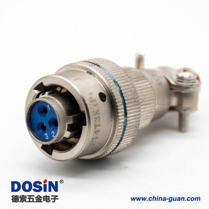 3芯航空插头母卡口连接接线焊接直式XCE连接器14壳体化学镀镍